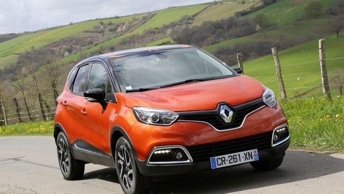 Der Renault Captur von vorne