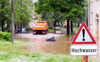 Hochwasser Überflutung Flut Wetter Regen