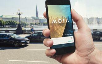 Mobilitätsplattform Moia smartphone app elektro carsharing shuttle hamburg