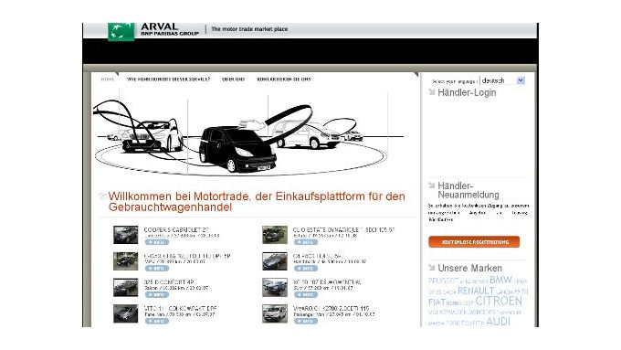 Arval startet Online-Seite für Gebrauchte