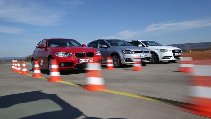 Audi A3, BMW 1er, VW Golf