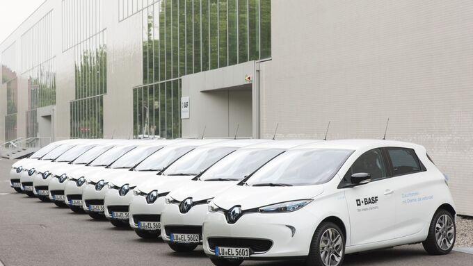 BASF E-Flotte Renault Kangoo Z.E. Zoe