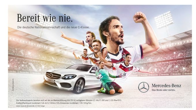 Daimler, C-Klasse, Werbung
