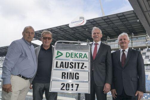 Dekra, übernahme, Lausitzring, Klettwitz, Josef, Hofmann, Josef, Meier, Clemens Klinke, Mitglied des Vorstands DEKRA SE, Dr. Gerd Neumann, Vorsitzender der Geschäftsführung der DEKRA Automobil GmbH.