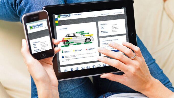 Euromaster Reifen Tablet