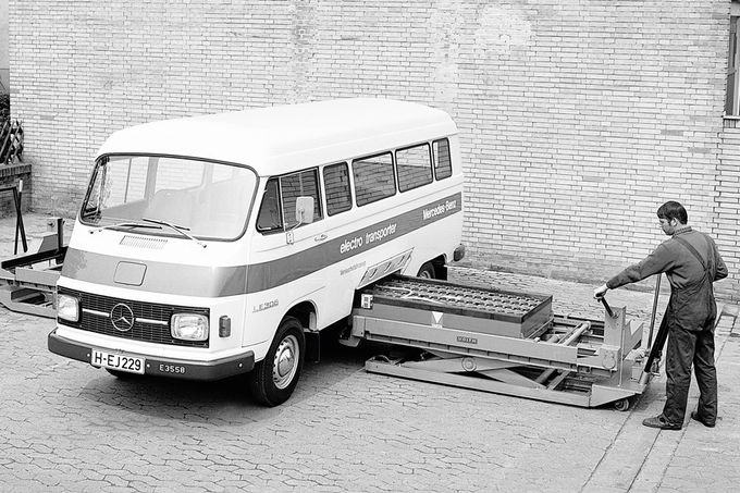 Historie Alternative Antriebe, Batteriewechsel anno 1972