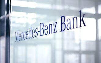 Mercedes-Benz Bank Schriftzug Logo Emblem