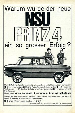 NSU Prinz, Werbung