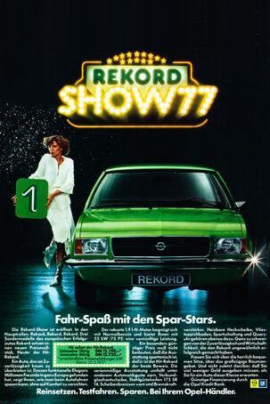 Opel Rekord D, Werbung