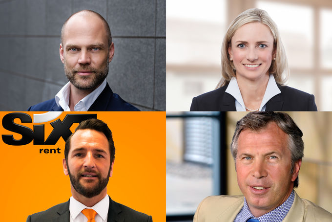 Sixt internationales Vertriebsteam Florian Klier, Heike Kammer, Stuart Donnelly, Emmanuel Roche