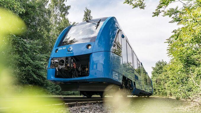 Zug mit Brennstoffzellenantrieb