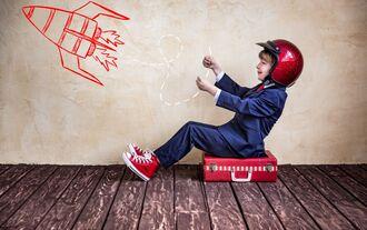kind, rakete, start-up, jungunternehmer, unternehmensgründer