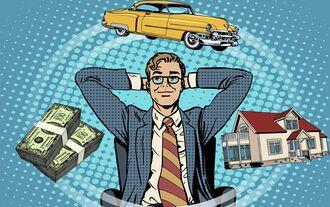 man dream house money car